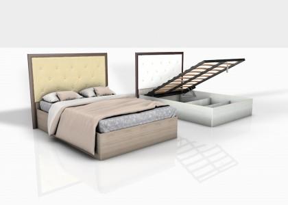 Кровать 1,4 Леон М Люкс (лифт)
