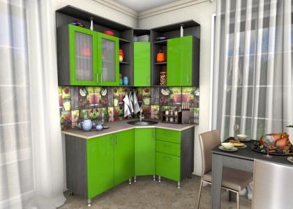 Кухня Кира 1,2 * 1,6 м. МДФ гл.