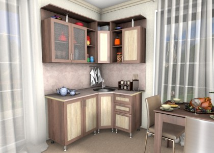 Кухня Кира 1,2 * 1,6 м. рамочные