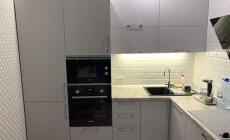 Кухня Шпон Серый