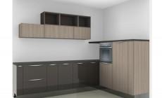 Кухня Шпон+Краска