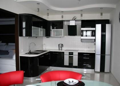 Кухня угловая МДФ в глянце