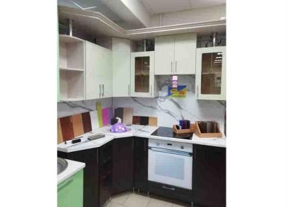 Кухня МДФ Реалвуд фисташка + рамочные Венге