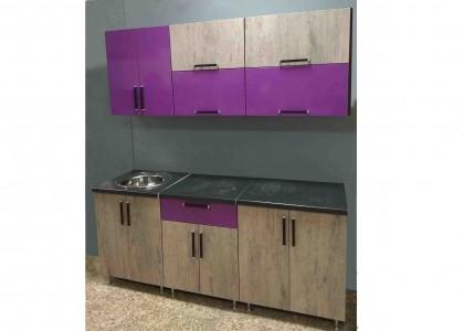 Кухня МДФ Виолетта глянец + МДФ Алвиг