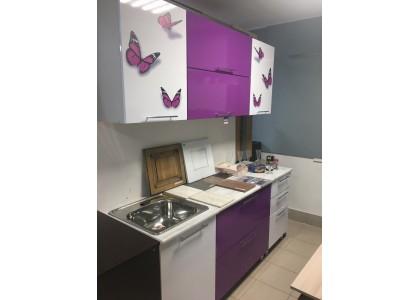 """Кухня 1,9м МДФ Фотопечать """"Бабочки"""" (Тольятти)"""