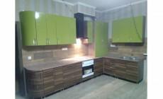 Кухня угловая фасады гнутые МДФ глянец