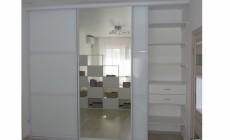 Шкаф-купе  с алюминиевым профилем + стекло Лакобель