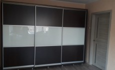 Шкаф-купе фасады ЛДСП+Лакобель