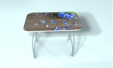 Стол обеденный стекло Гортензия