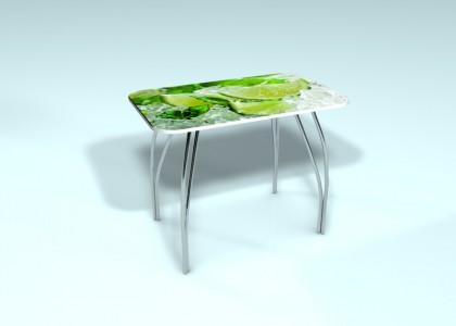 Стол обеденный стекло Лайм