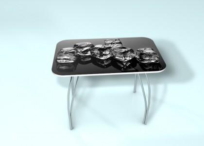 Стол обеденный стекло Лёд